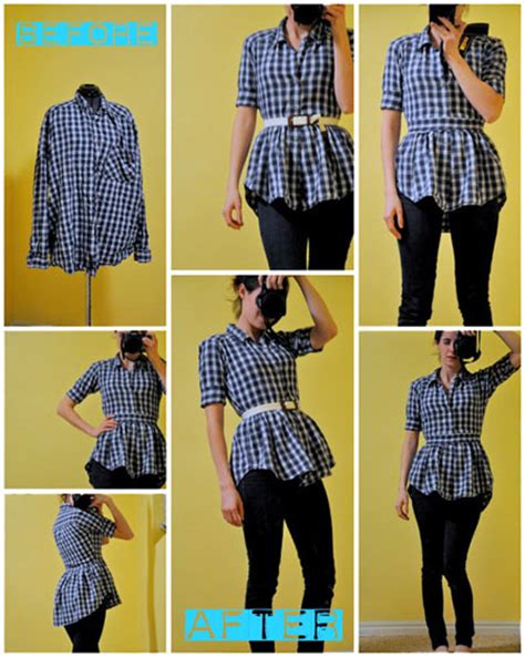 Upcycling Clothes Before And After - diy t shirt peplum top day 24 interestingfor me
