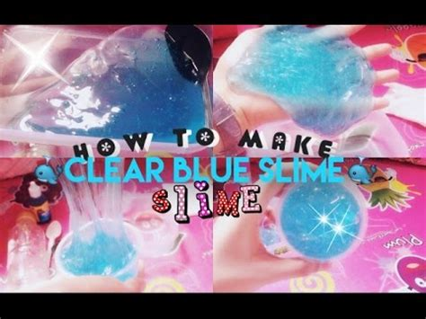 cara membuat slime ria yaya ria how to make slime clear blue slime cara membuat slime