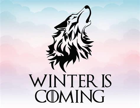 game  thrones winter  coming wolf head vector logo