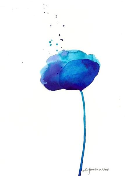 printable pictures of blue flowers watercolor print abstract blue flower glorious blue