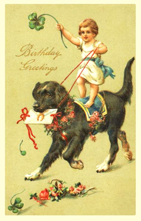 printable birthday cards with dogs 7 best images of free printable vintage birthday cards