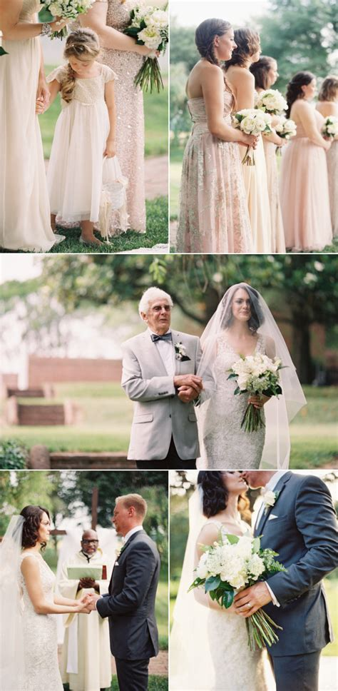 outdoor wedding romanceishope romantic outdoor wedding in maryland style me pretty