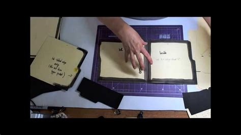 How To Make A Folder Out Of Construction Paper - a file folder book part 1