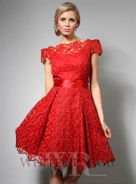 red cocktail dress red dress lace dress long sleeve long sleeved dress