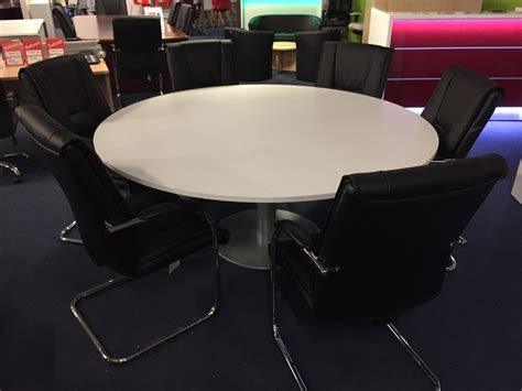 circular meeting room table circular meeting tables new used office furniture glasgow scotland