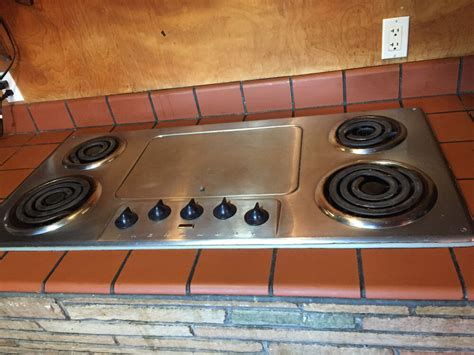 vintage 45 quot thermador stainless steel electric cooktop ebay