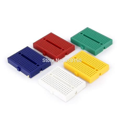 Syb 170 Mini Solderless Prototype Breadboard 170 Tie Points 1pcs syb 170 mini solderless prototype breadboard 170 tie points for atmega pic arduino uno in