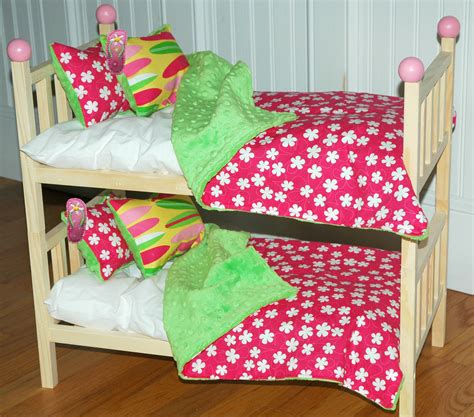 american girl doll bunk beds american girl doll bed kanani bunk bed with hawaiian bedding