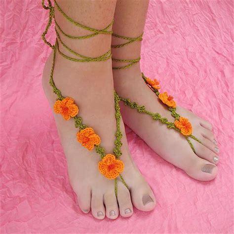 barefoot sandals pattern crochet diy crochet barefoot poppy sandals 101 crochet