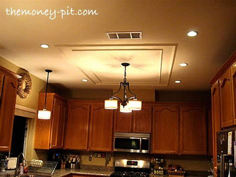 Update Kitchen Lighting Updating A Fluorescent Box Light With Led Lighting And Decorative Mol