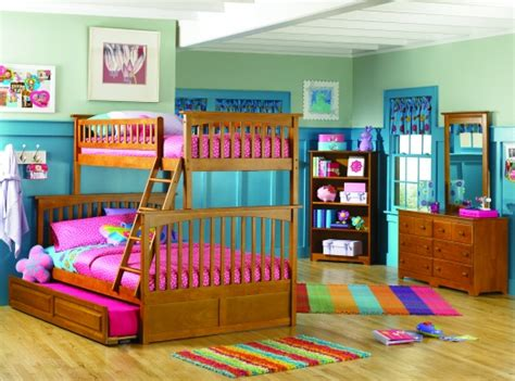 bunk beds for teens trundle beds with trundle teenage girls bedroom design