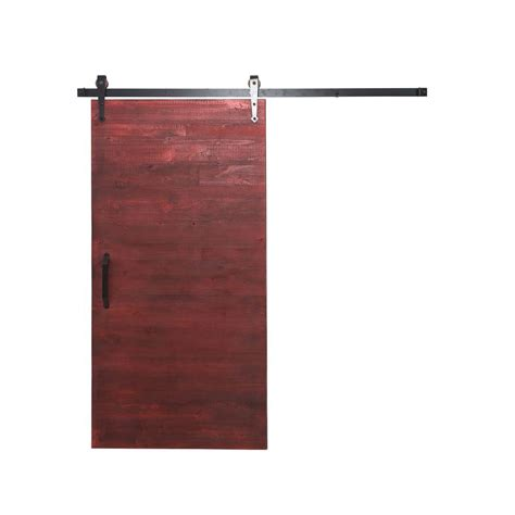 Sliding Barn Door Hardware Home Depot Rustica Hardware 42 In X 84 In Reclaimed Home Depot Gray Wood Barn Door With Arrow Sliding