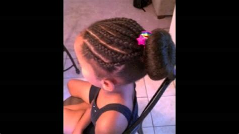 braided hairstyles for biracial kids mixed chicks children s hairstyles part 2 youtube