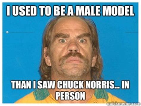 Model Meme - i used to be a male model than i saw chuck norris in