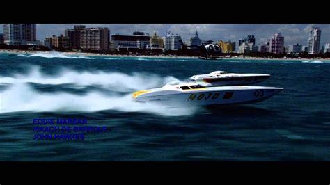 driving the original miami vice boat miami vice boat race intro youtube