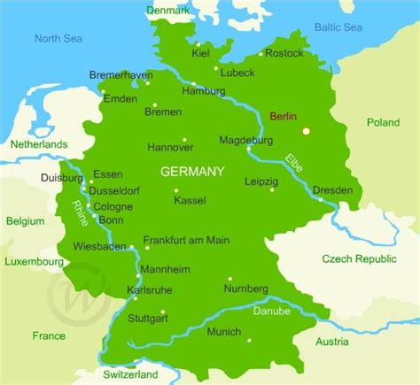 map of germany and belgium map of germany