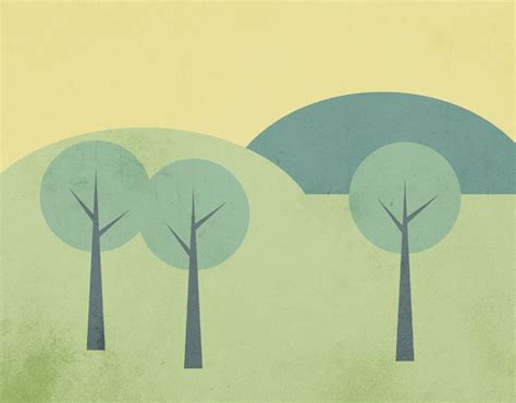 simple vector tutorial photoshop how to create a simple landscape scene in illustrator
