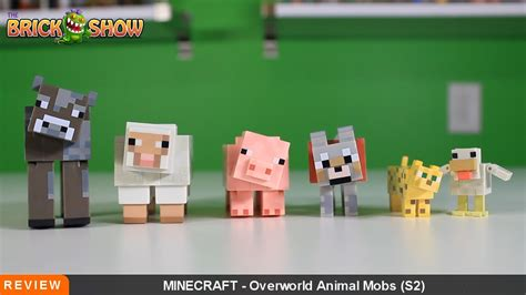 minecraft overworld animal mob pack action figure review