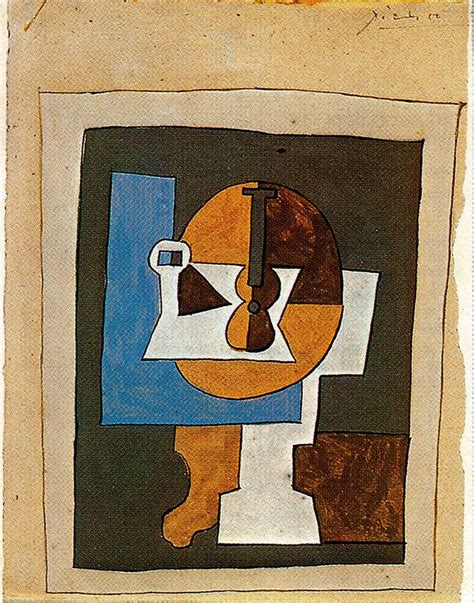 Picasso Cubism Guitar Bowl Of Fruit And Guitar Pablo Picasso Wikiart Org