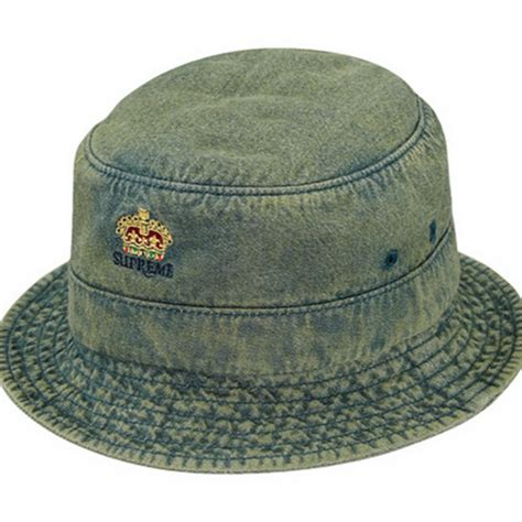 supreme hats supreme denim crusher trooper hat green