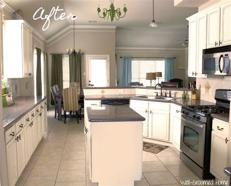 Almond Kitchen Cabinets Painted Kitchen Cabinets Chalk Paint Well Groomed Home