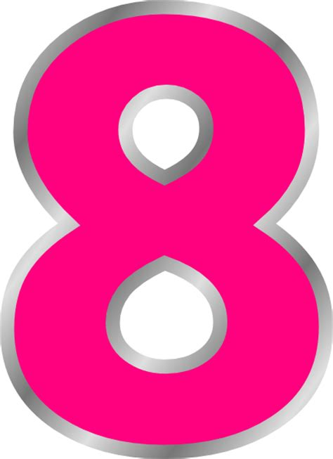 q q numeric pink pink eight clip at clker vector clip