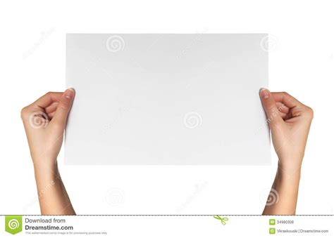 How To Make Paper Holding - hold white paper royalty free stock photos