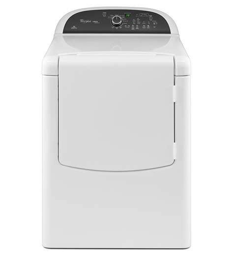 whirlpool 174 cabrio 174 platinum 7 6 cu ft he dryer with advanced moisture sensing wgd8000bw white