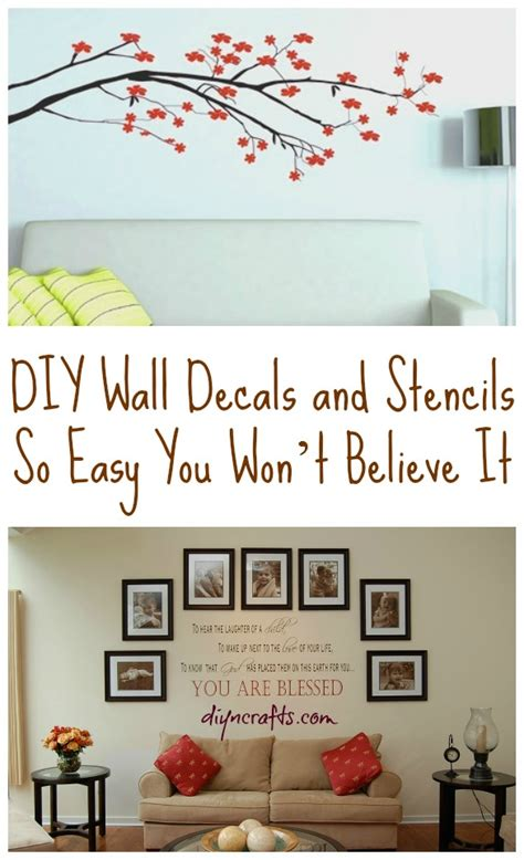 diy wall stickers diy wall decals and stencils so easy you won t believe it
