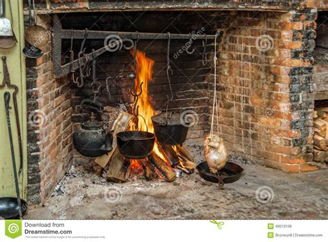 Cooking In The Fireplace by Cooking On Open Hearth Stock Photo Image Of Oven