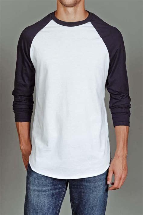 Kaos Gildan Nike New Abu by Us Blanks S Baseball Raglan White Navy For Him