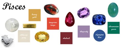 pisces color pisces birthstones element gemstones and pantone matches
