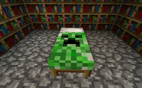 bed in minecraft creeper bed minecraft texture pack