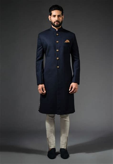 New Endia Jaket Navy wedding sherwani 20 best sherwani ideas for grooms