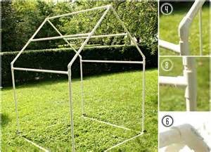 diy cool pvc playhouse and sunshade for kids kidsomania