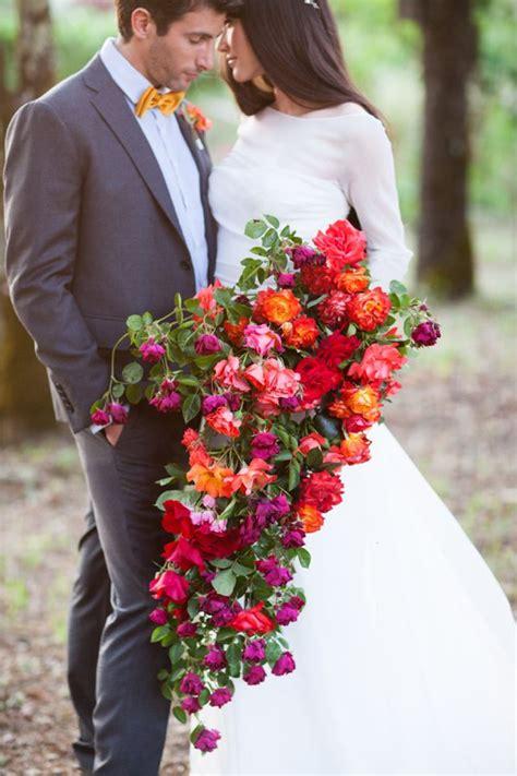 Larissa Flower Big 20 stunning cascading bouquets expert tips from florists bridal musings