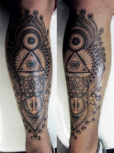 25 best ideas about men s leg tattoos on pinterest mens