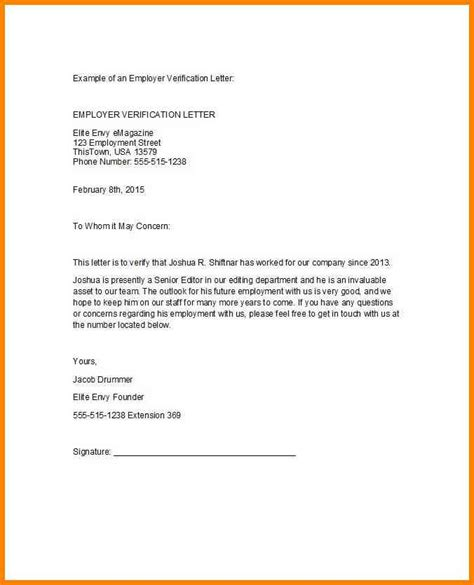 Employment Letter Confirmation Sle 9 Confirmation Of Employment Letter To Employer Cashier Resumes