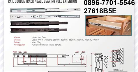 Rel Laci Track Extension 45 50cm 1 rel laci bearing extension lintang fittings