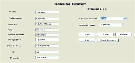 Design Online Banking System   data base management system lab exercise programs design