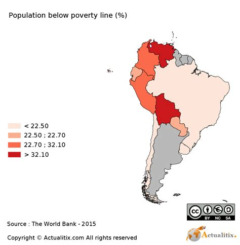population map of south america south america map population below poverty line 2016