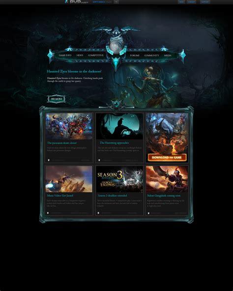 League Of Legends Fan Made Halloween Website By Samhexo On Deviantart League Website Template