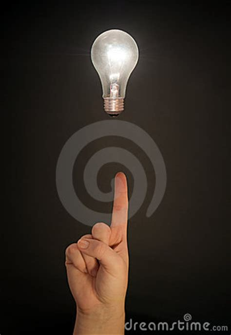 floating light bulb and royalty free stock photo