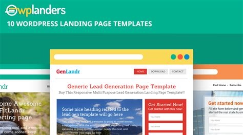 wordpress landing page template landing page wordpress