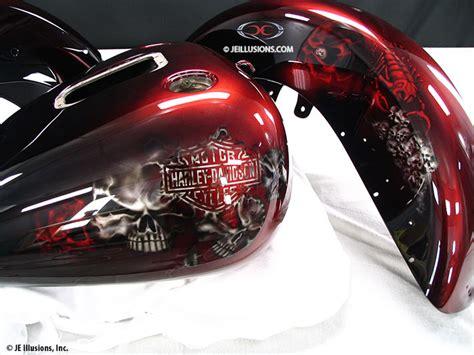 Sprei Single Harley Davidson skulls scorpions custom cutting edge illusions