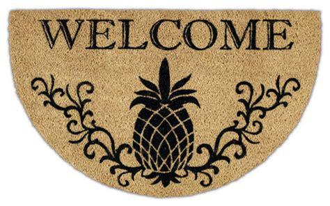 Pineapple Doormat Welcome Pineapple Doormat 24x30 Tropical Doormats