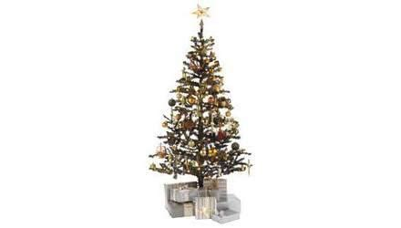 ready dressed christmas tree 6ft ready to dress black tree 163 14 99 delivered argos ebay includes 75 copper and