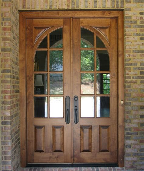 Wooden Patio Door White Wooden Glass Door Frames For Patio Door And Exposed Brick Wall Panel