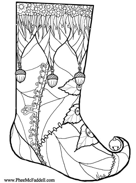 christmas stocking coloring pages coloring home