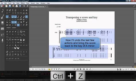 tutorial guitar pro 5 guitar pro 6 tutorial transposing a score and key youtube